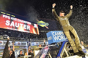 NASCAR Truck Race report Johnny Sauter grabs fourth Truck win of 2018 at Texas