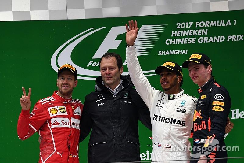 中国大奖赛正赛:汉密尔顿问鼎,梅赛德斯获得赛季首冠