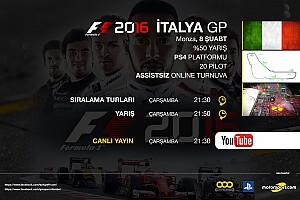 FORMULA 1 LİGİ Son dakika F1 2016 online turnuva: İtalya GP - Canlı Yayın