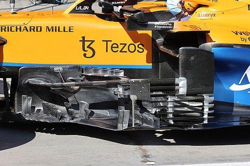 McLaren: boomerang lungo e tapparella a forma d'elica