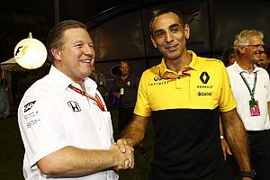 Renault niet bang om in 2018 verslagen te worden door McLaren