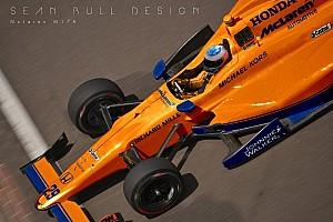 IndyCar Новость Дизайнер представил концепт ливреи машины Алонсо в Indy 500