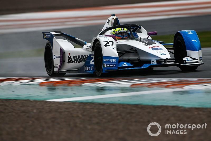 Sims da a BMW el monopolio de los test de Fórmula E bajo la lluvia de Valencia