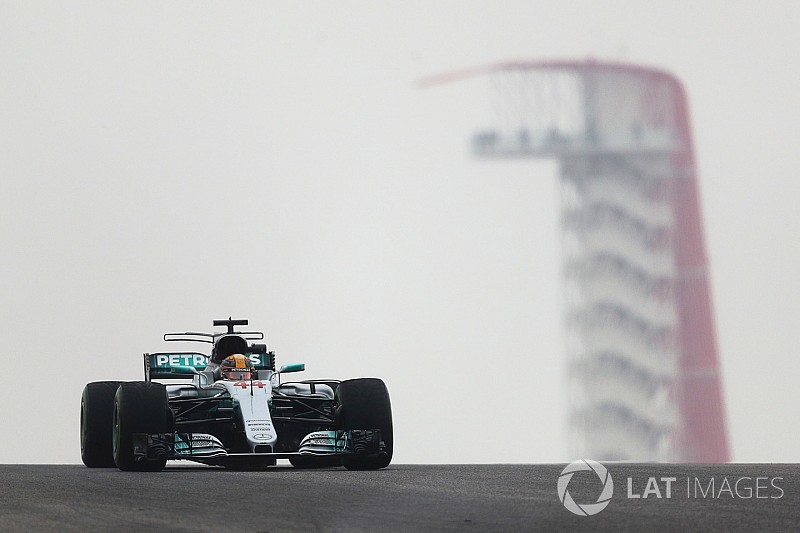 United States GP: Hamilton leads Vettel in wet-dry FP1