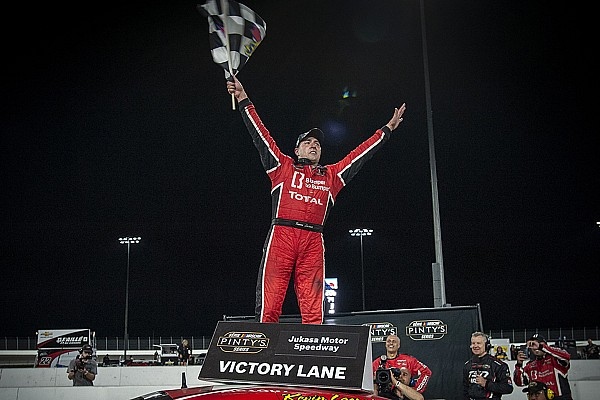 NASCAR Canada Breaking news Kevin Lacroix scores maiden oval track win in NASCAR Pinty's Series