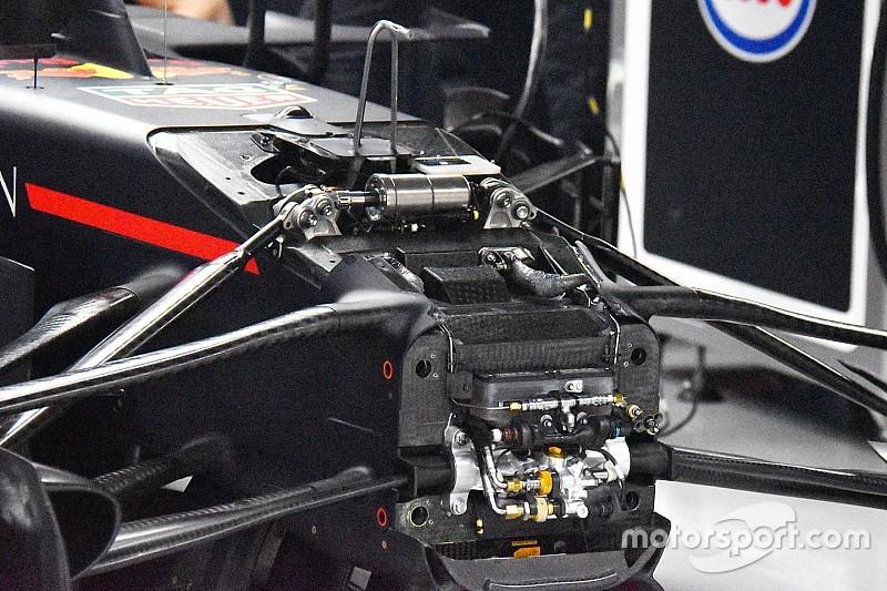 Red Bull: ecco il J-damper della RB14 che ha fatto volare Ricciardo
