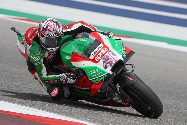 MotoGP Ultime notizie Dopo la prima top 10 del 2018, l'Aprilia resta ad Austin per un giorno di test