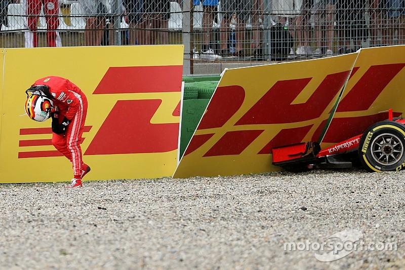 Képekben a nagy Vettel-dráma a Német Nagydíjról
