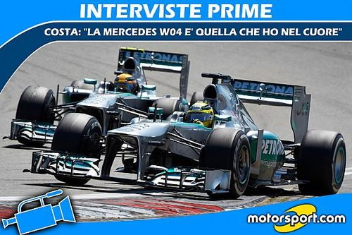 """Costa: """"La W04 è la Mercedes che ho nel cuore"""""""