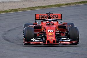 Leclerc también lidera para Ferrari en la segunda mañana de test