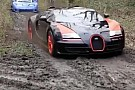 Automotive Bugatti Veyron and other supercars go off-roading in crazy vid