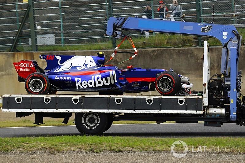 """Sainz sur son crash : """"C'était une erreur de ma part"""""""