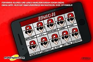 Formel 1 Feature Cirebox: Die Sache mit der Emoji-App von F1-Fahrer Kimi Räikkönen
