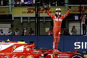 Formula 1 Qualifying report GP Singapura: Vettel menangi duel pole, Hamilton P5