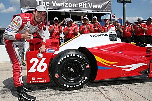 IndyCar Qualifying report Carlos Munoz scores first IndyCar pole