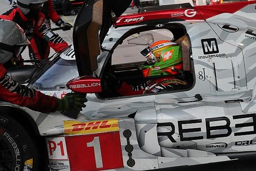 Louis Deletraz au départ des 24 Heures du Mans sur une seconde Rebellion