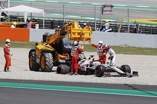 Bottas najszybszy, Kubica w żwirze
