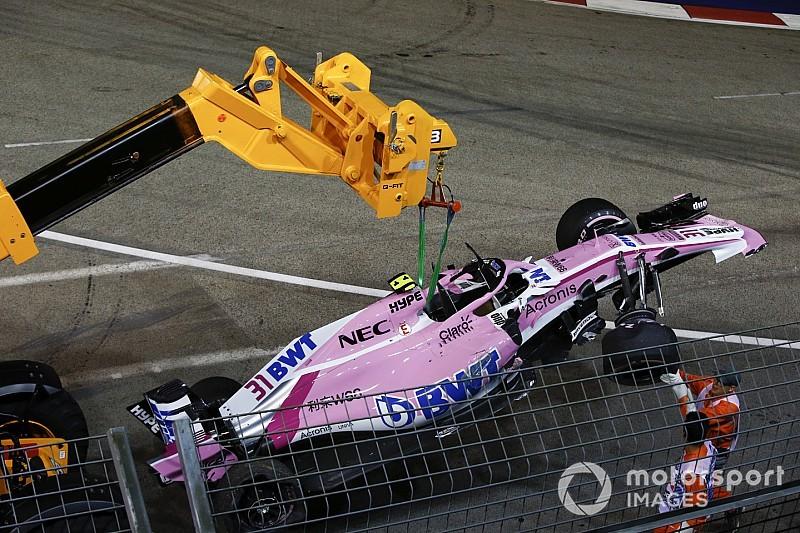 Pérez bate em Ocon e Sirotkin e incendeia GP de Singapura