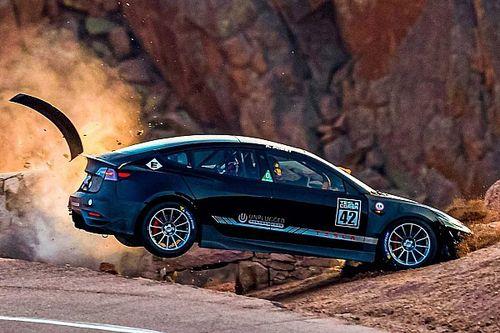 Accident impressionnant pour la Tesla Model 3 à Pikes Peak
