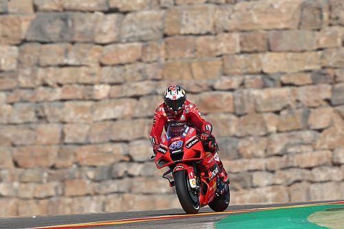 Aragon MotoGP: Miller leads Espargaro in FP2, Marquez crashes
