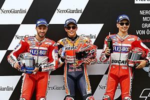 MotoGP Resultaten De startopstelling voor de Grand Prix van Oostenrijk