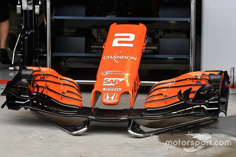 McLaren: Apró változtatás az első szárny egyik lapján
