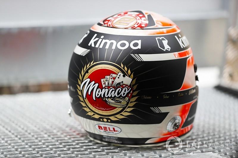 Vandoorne monacói sisakja Alonso márkájában díszeleg