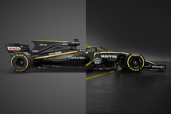 Формула 1 Топ список Слайдер: порівняння нової і торішньої машин Renault