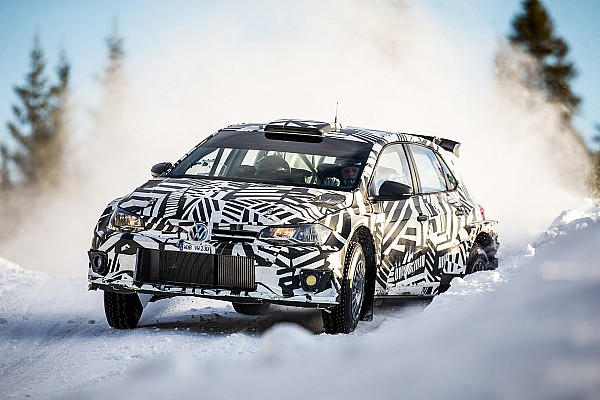 Solberg tests Volkswagen's R5 rally car