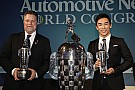 "Sato, Andretti receive their ""Baby Borgs"" in Detroit"