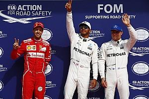 F1 Reporte de calificación La parrilla de salida del GP de Bélgica 2017 de F1