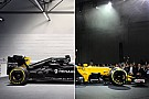Comparación visual del Renault RS16 vs RS17