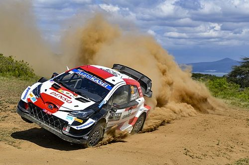 Safari WRC: Toyota's Evans out early after hitting a rock