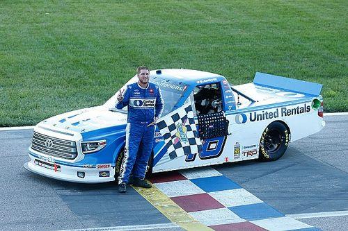 Austin Hill takes opening win in Kansas Trucks doubleheader