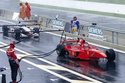 Remember when: Schumacher and Coulthard clashed at soaking Spa
