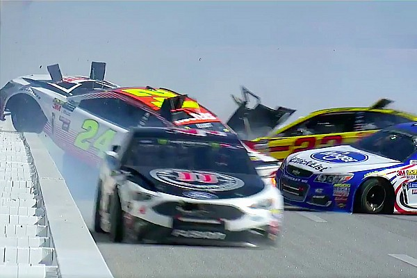 NASCAR Cup VIDEO: 'Big one'  detiene carrera en Talladega