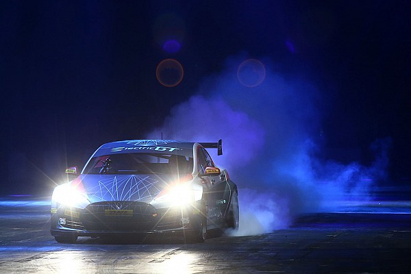 Automotive EGT'S Tesla Model S stars in Autosport Show's live action arena