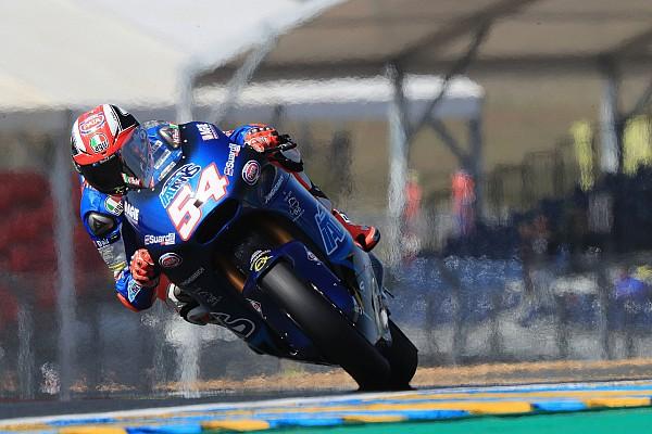 Moto2 Verslag vrije training Moto2 Le Mans: Pasini aan de leiding in opwarmsessie