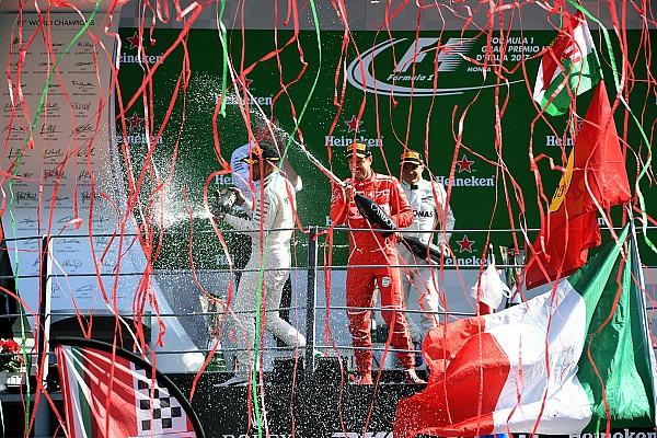 Formula 1 Fotoğrafın arkasındaki hikaye: Monza podyumunda konfetilerle kutlama