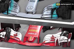F1 Análisis Análisis en video: los diferentes conceptos de Mercedes y Ferrari