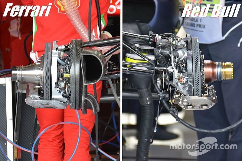 Технічний брифінг: порівняння налаштувань гальм в Ferrari та Red Bull