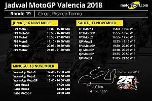 Jadwal lengkap MotoGP Valencia 2018