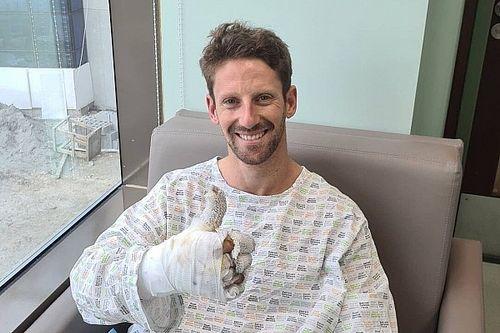 Grosjean ontslagen uit ziekenhuis na behandeling aan brandwonden