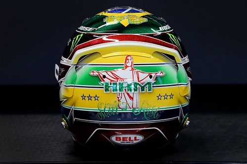 Hamilton homenageia 'Superman' Senna no capacete; veja fotos