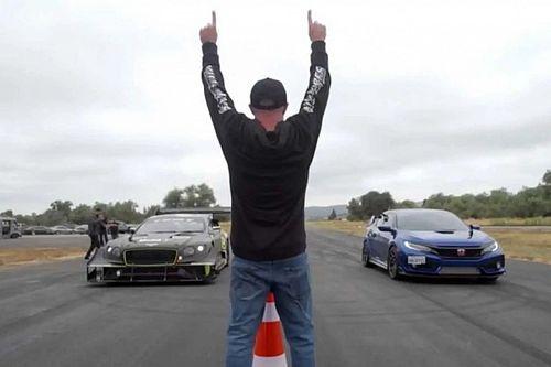 Elég igazságtalan dolog a Honda Civic Type R-re ráereszteni a Bentley hegyifutamos Continental GT-jét