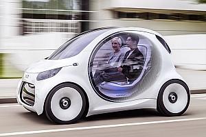 Automotive News Smart zeigt Designstudie mit Elektroantrieb und ohne Lenkrad