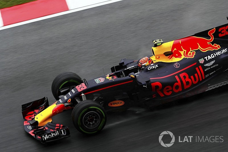 F1マレーシアGP FP1速報:ウエットでフェルスタッペンが首位。アロンソ3番手
