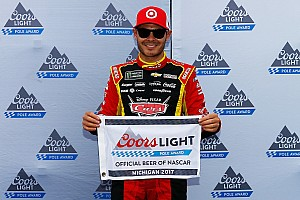 NASCAR Cup Qualifying report Larson edges Truex for Michigan pole with 202mph lap