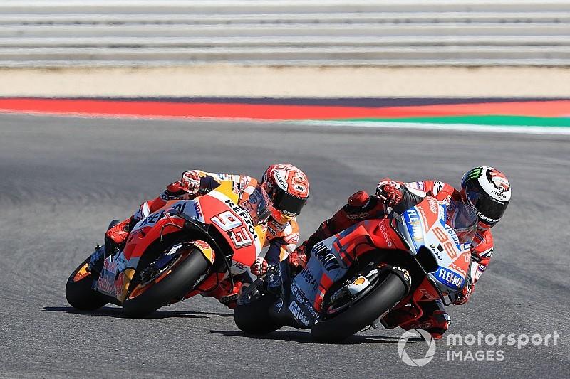Ducati dominan, Marquez susah payah imbangi Lorenzo