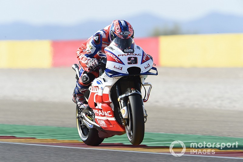 Petrucci gap to works Ducatis